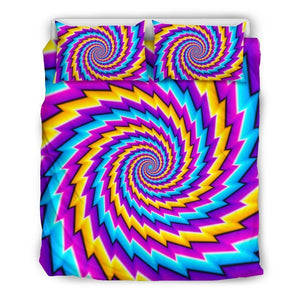 Twisted Spiral Moving Optical Illusion Duvet Cover Bedding Set GearFrost