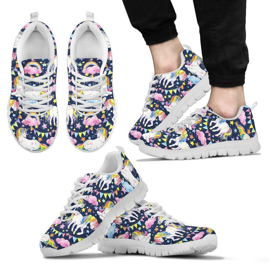 Unicorn Night Festival Pattern Print Men's Sneakers GearFrost