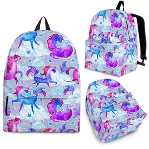 Unicorn Paradise Pattern Print Backpack GearFrost
