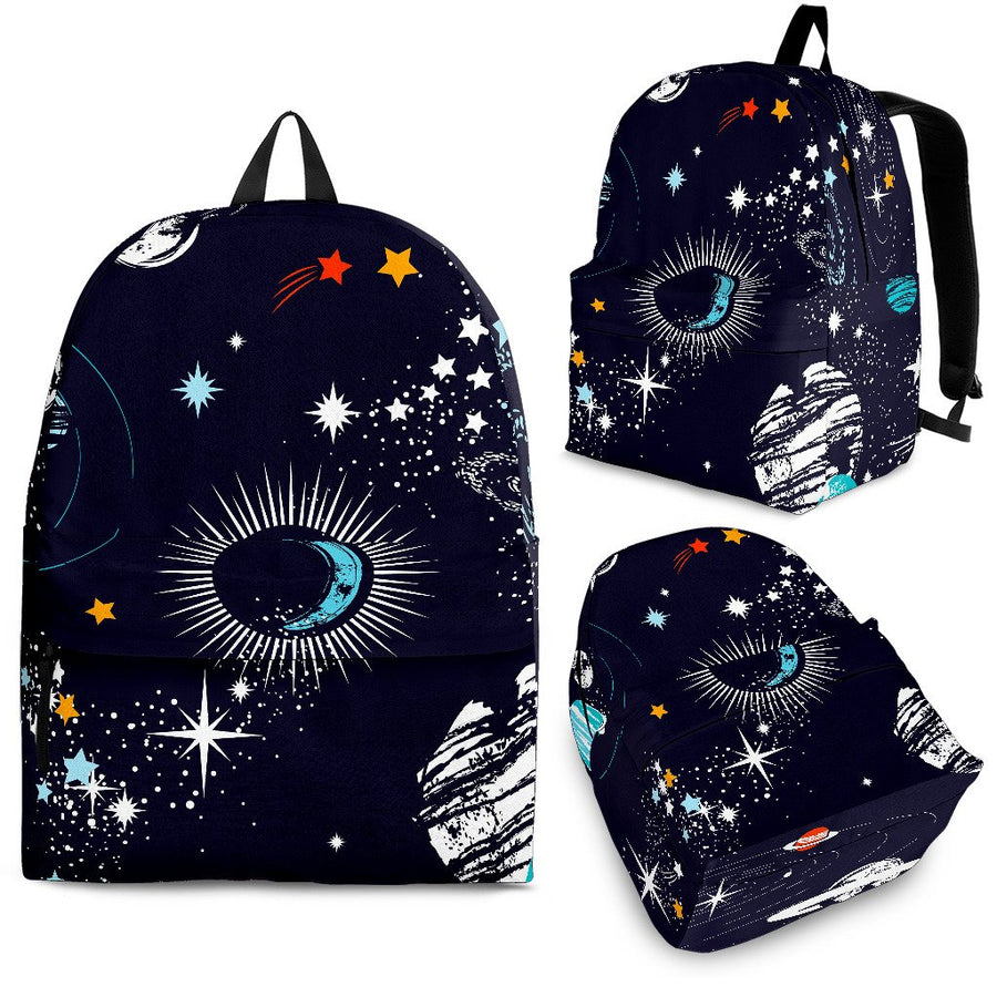 Universe Galaxy Outer Space Print Backpack GearFrost