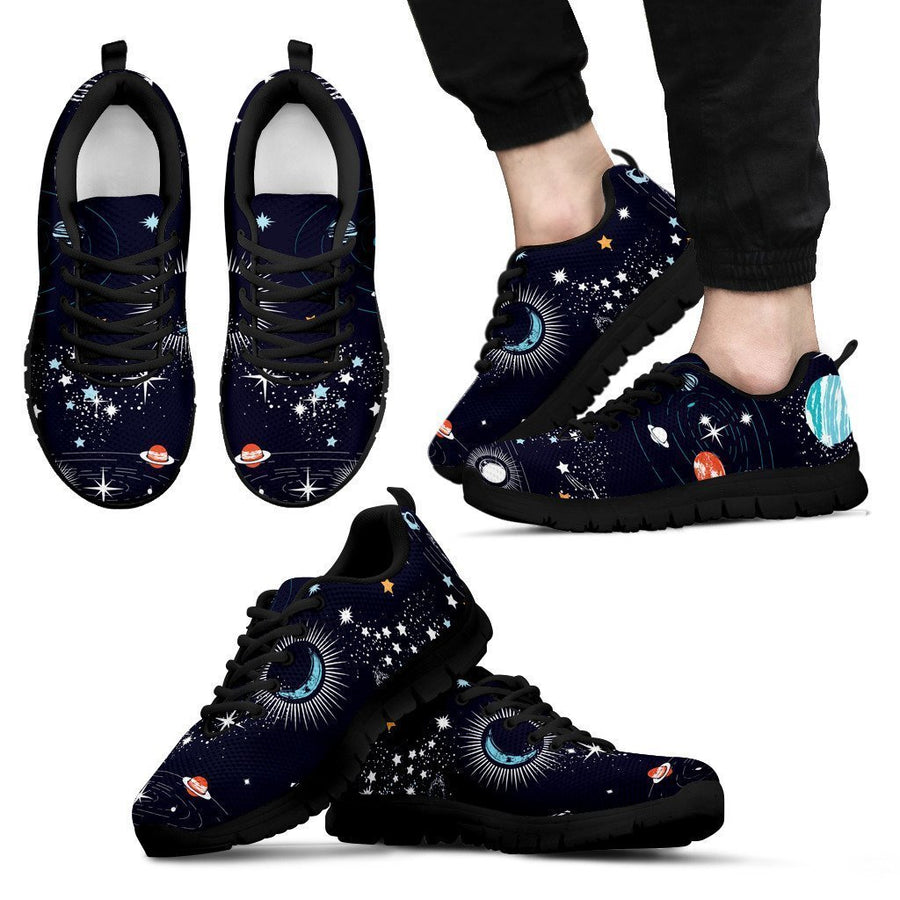 Universe Galaxy Outer Space Print Men's Sneakers GearFrost