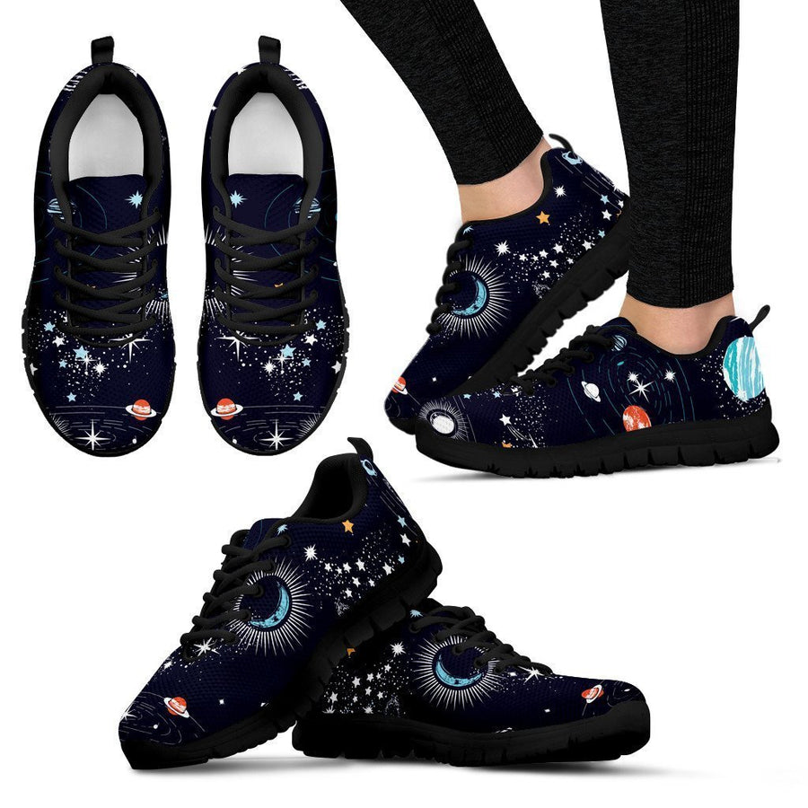 Universe Galaxy Outer Space Print Women's Sneakers GearFrost