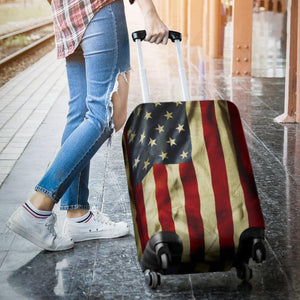Vintage American Flag Patriotic Luggage Cover GearFrost