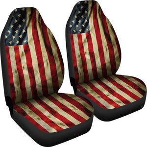 Vintage American Flag Patriotic Universal Fit Car Seat Covers GearFrost