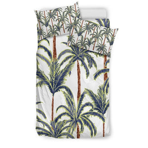 Vintage Palm Tree Beach Pattern Print Duvet Cover Bedding Set GearFrost