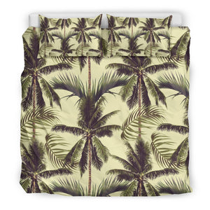 Vintage Palm Tree Pattern Print Duvet Cover Bedding Set GearFrost