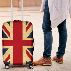 Vintage Union Jack British Flag Print Luggage Cover GearFrost