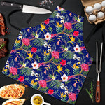 Watercolor Tropical Flower Pattern Print Men's Apron GearFrost