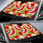Watercolor Watermelon Pattern Print Car Sun Shade GearFrost