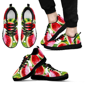 Watercolor Watermelon Pattern Print Men's Sneakers GearFrost