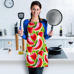 Watercolor Watermelon Pattern Print Women's Apron GearFrost