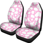 White And Pink Cow Print Universal Fit Car Seat Covers GearFrost