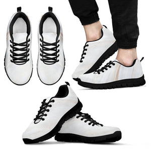 White Brown Smooth Marble Print Men's Sneakers GearFrost