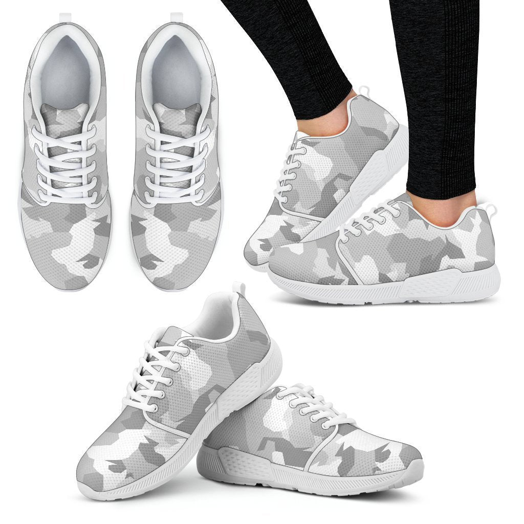 b9473bf194f97 White Snow Camouflage Print Women's Athletic Shoes – GearFrost