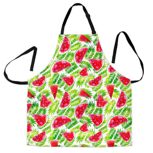 White Summer Watermelon Pattern Print Men's Apron GearFrost