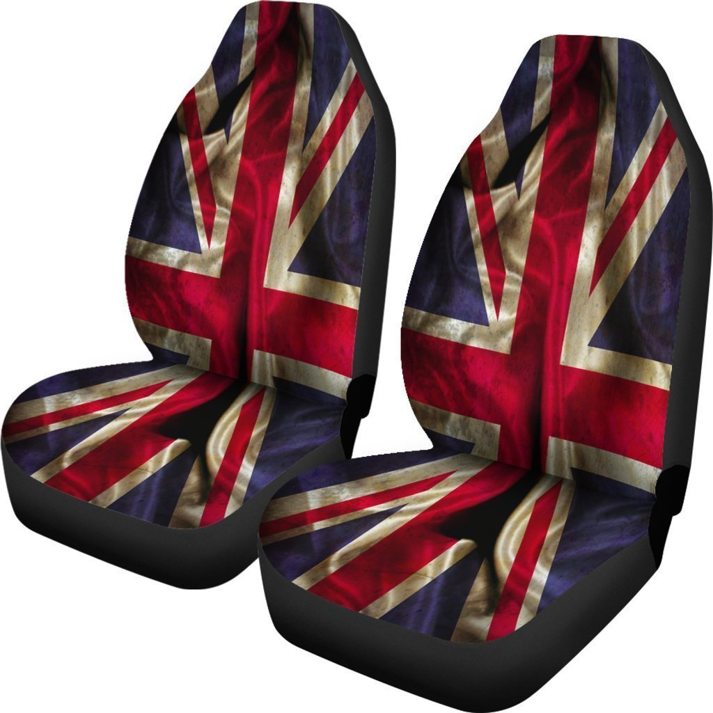 1463cd2406 Product image 1 Wrinkled Union Jack British Flag Print Universal Fit Car  Seat Covers GearFrost
