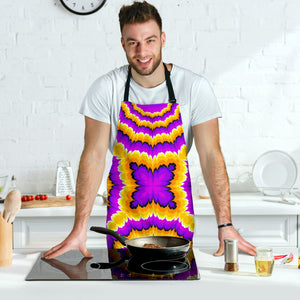 Yellow Explosion Moving Optical Illusion Men's Apron GearFrost