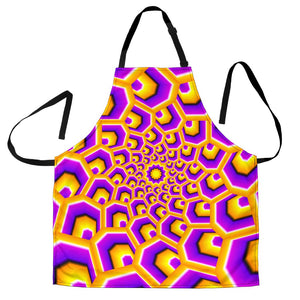 Yellow Hive Moving Optical Illusion Men's Apron GearFrost