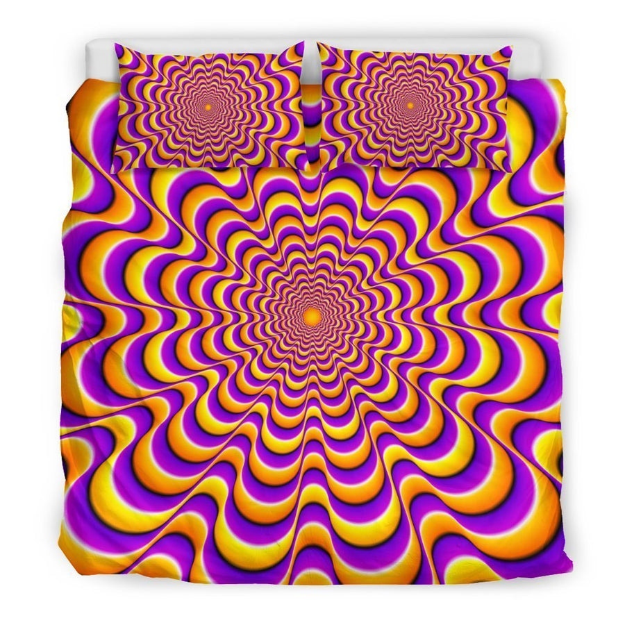 Yellow Splashing Moving Optical Illusion Duvet Cover Bedding Set GearFrost