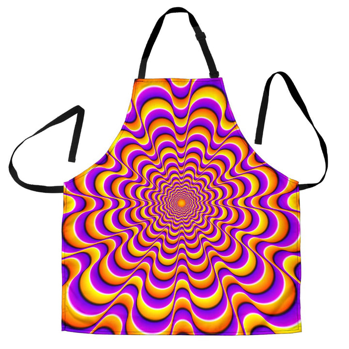 Yellow Splashing Moving Optical Illusion Men's Apron GearFrost