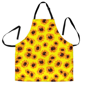 Yellow Sunflower Pattern Print Men's Apron GearFrost