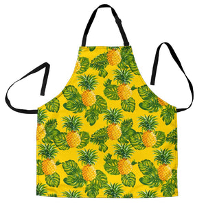 Yellow Tropical Pineapple Pattern Print Men's Apron GearFrost