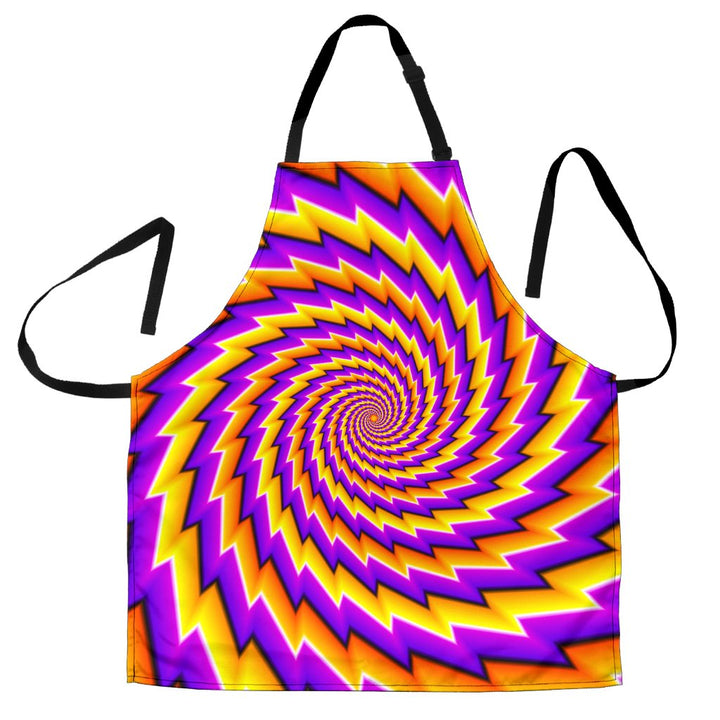 Yellow Twisted Moving Optical Illusion Men's Apron GearFrost
