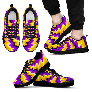Yellow Vortex Moving Optical Illusion Men's Sneakers GearFrost