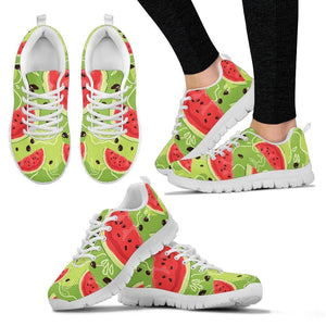 Yummy Watermelon Pieces Pattern Print Women's Sneakers GearFrost