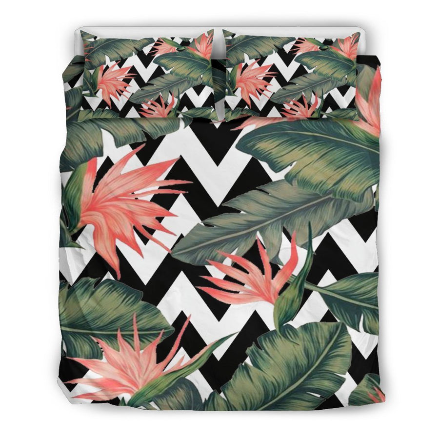 Zig Zag Tropical Pattern Print Duvet Cover Bedding Set GearFrost