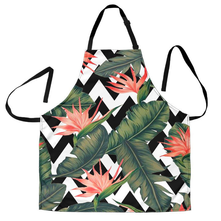 Zig Zag Tropical Pattern Print Men's Apron GearFrost