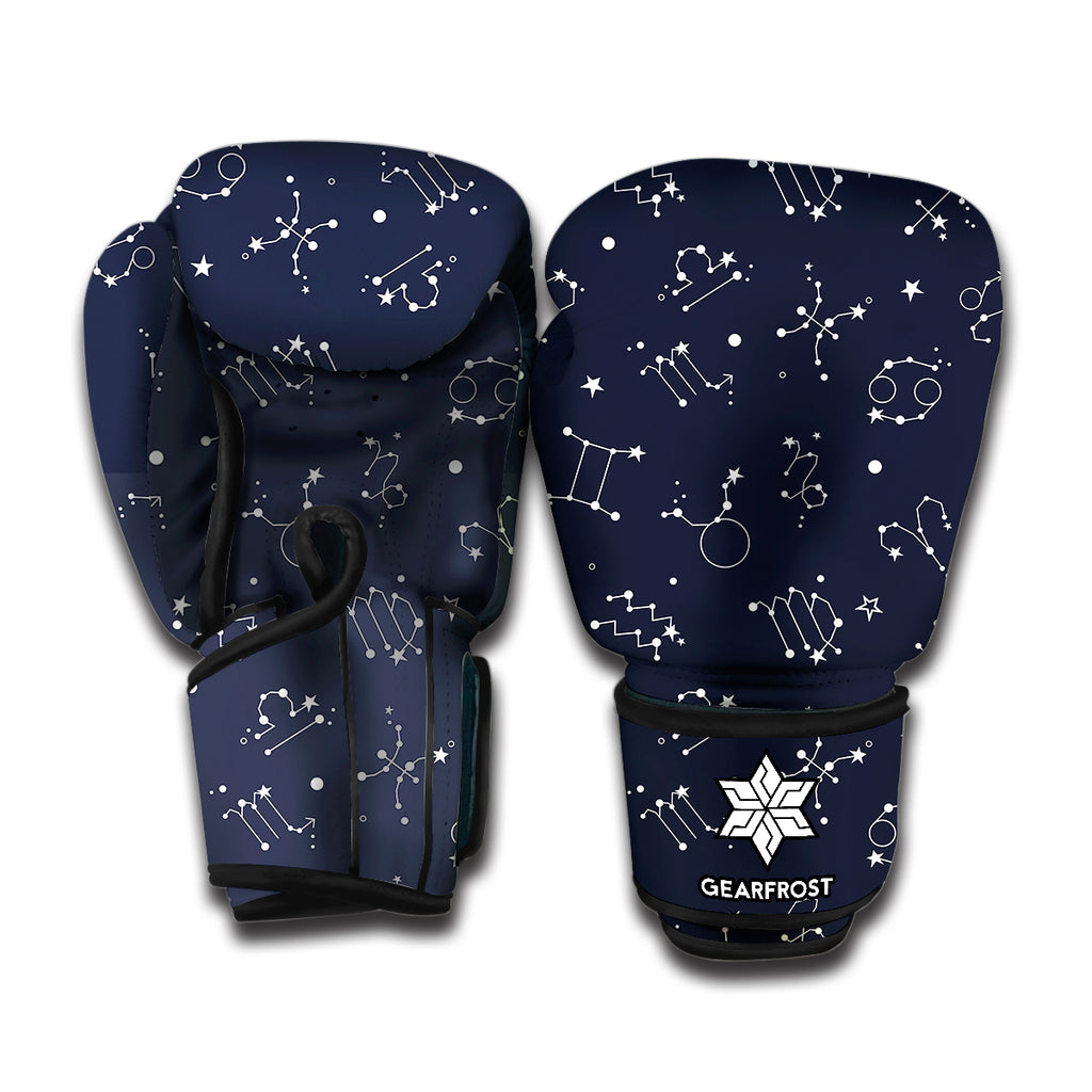Zodiac Star Signs Pattern Print Boxing Gloves
