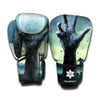 Zombie Hand Rising From Grave Print Boxing Gloves