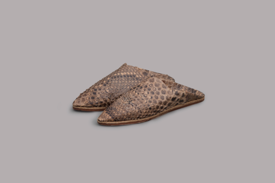 WOMEN'S PYTHON LEATHER BALGHA SLIPPERS