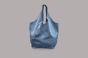 SUEDE BAG (NAVY)