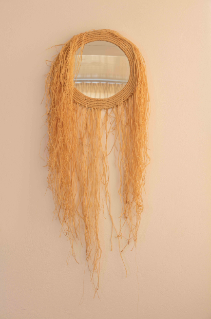 RATTAN MIRROR (CRAZY HEAD)
