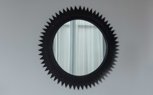 RECYCLED MIRROR FRAME (HEDGEHOG)