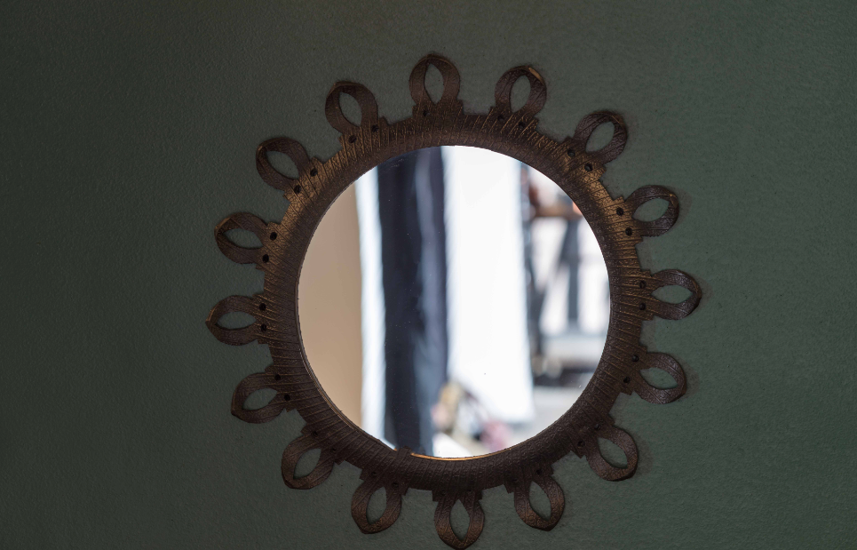 REYCLED MIRROR FRAME (SUN)