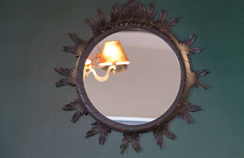 RECYCLED MIRROR FRAME (SNOW FLAKE)