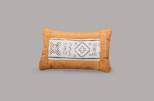 LEATHER RECTANGULAR CUSHION (TOURNESOL)