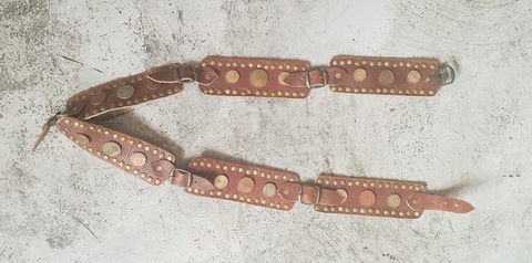 LEATHER & COINS BELT (CAMEL)