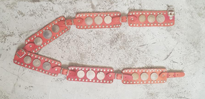 LEATHER & COINS BELT (RED)