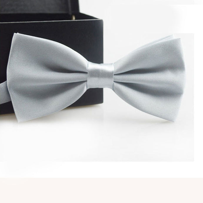 Ash Grey Bow Tie - Dapper Boulevard