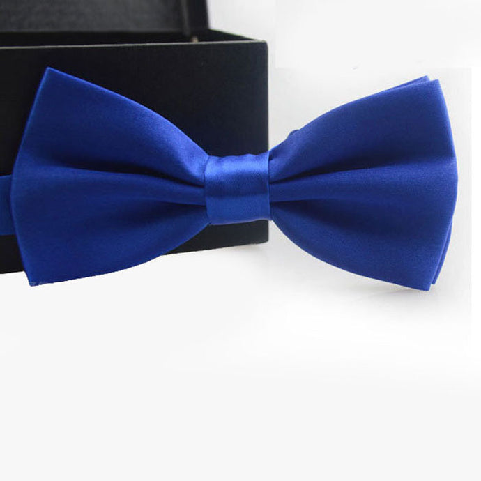 Royal Blue Bow Tie - Dapper Boulevard