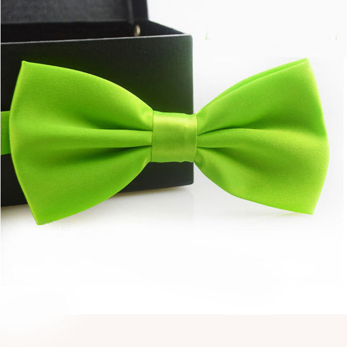 Lime Green Bow Tie - Dapper Boulevard