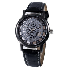 Genvivia - Luxury Hollow Analog Quartz Stainless Steel Watch - Black - Watches