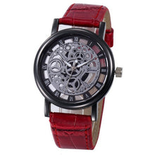 Genvivia - Luxury Hollow Analog Quartz Stainless Steel Watch - Red - Watches