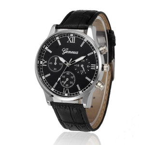 Geneva Retro Quartz Watch - Black - Watches