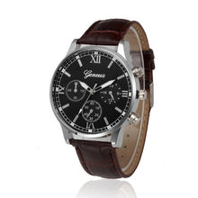 Geneva Retro Quartz Watch - Brown - Watches