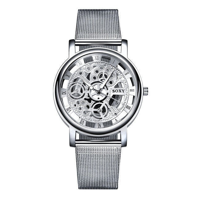 Soxy Golden Skeleton Watch - Unisex - Silver / China - Watches